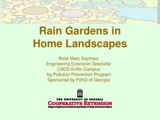 Rain Gardens in  Home Landscapes