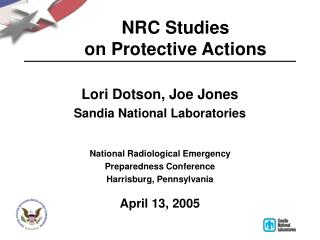 NRC Studies  on Protective Actions