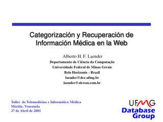 Categorización y Recuperación de Información Médica en la Web