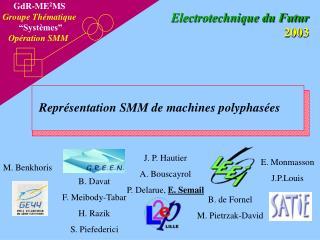 """GdR-ME 2 MS Groupe Thématique """"Systèmes"""" Opération SMM"""