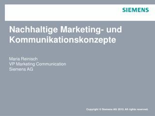 Nachhaltige Marketing- und Kommunikationskonzepte