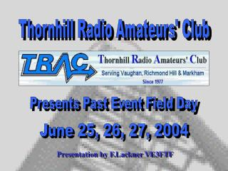 Presents Past Event Field Day