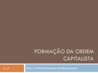 Formação da ordem capitalista