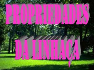 PROPRIEDADES DA LINHA A