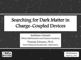 Searching for Dark Matter in Charge-Coupled Devices