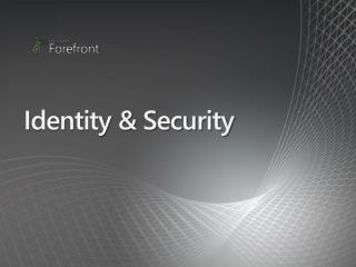 Identity & Security