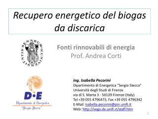 Recupero energetico del biogas da discarica
