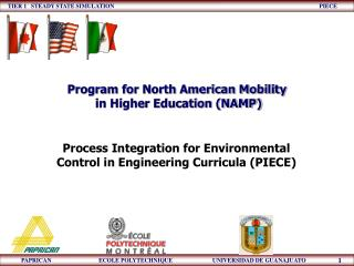 Process Integration for Environmental Control in Engineering Curricula (PIECE)