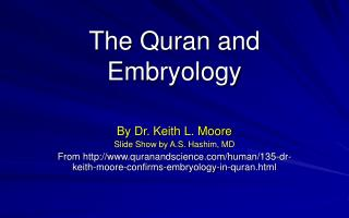 The Quran and Embryology