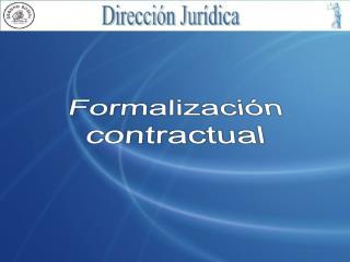 Formalización contractual