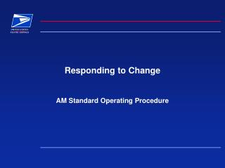 Responding to Change