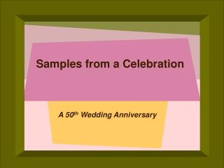 Samples from a Celebration