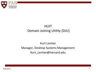 HUIT   Domain Joining Utility (DJU)