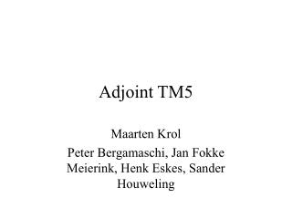 Adjoint TM5