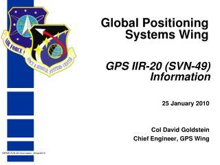 GPS IIR-20 SVN-49 Information