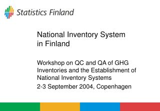 National Inventory System  in Finland