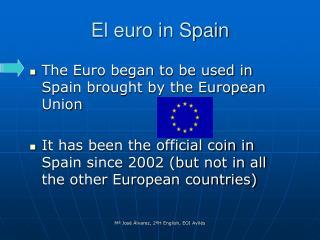 El euro in Spain