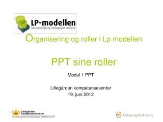 O rganisering og roller i Lp modellen PPT sine roller