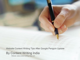 Website Content Writing Tips After Google Penguin Update