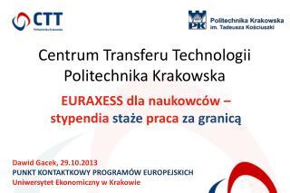 EURAXESS dla naukowców – stypendia  staże  praca  za granicą