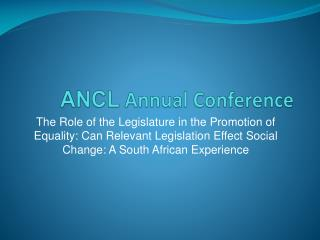 ANCL  Annual Conference