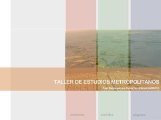 TALLER DE ESTUDIOS METROPOLITANOS Área Metropolitana Santa Fe –Paraná (AMSFP)