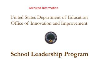 School Leadership Program