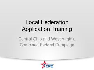 Local Federation Application Training