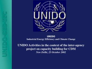 UNIDO Industrial Energy Efficiency and Climate Change