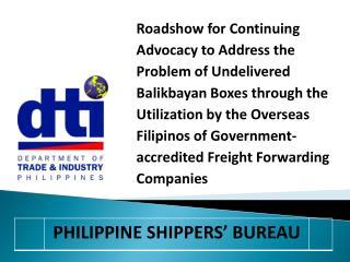 Philippine Shippers' Bureau (PSB)