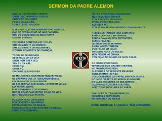 SERMON DA PADRE ALEMON