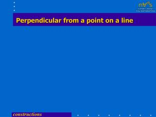 Perpendicular from a point on a line