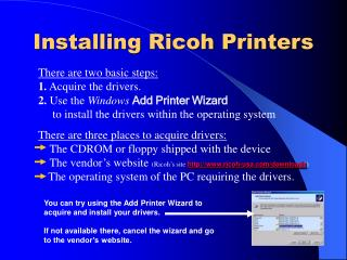 Installing Ricoh Printers