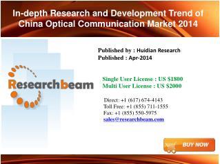 China Optical Communication Market-Size 2014
