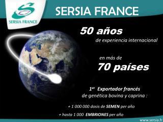 50 años  de experiencia internacional