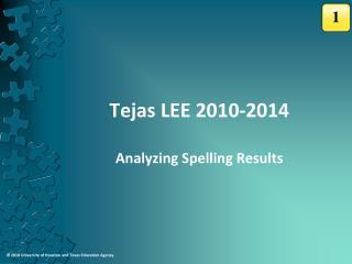 Tejas LEE 2010-2014