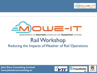 Rail Workshop Reducing the Impacts of Weather of Rail Operations