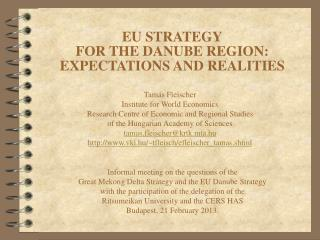 EU STRATEGY FOR THE DANUBE REGION: EXPECTATIONS AND REALITIES