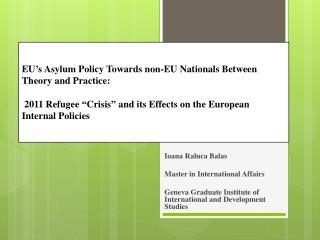 Ioana  Raluca  Balas Master in International  Affairs