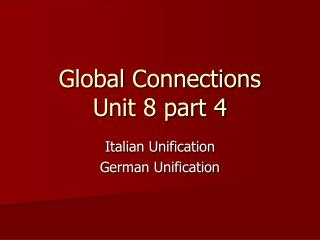 Global Connections Unit 8 part 4