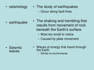 seismology earthquake Seismic waves