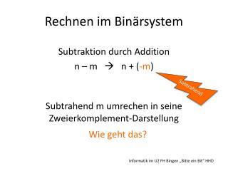 Rechnen im Binärsystem