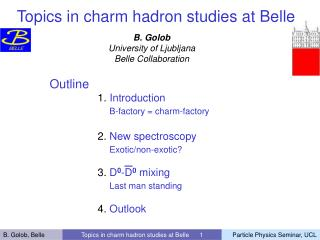 Topics in charm hadron studies at Belle