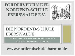 Förderverein der  Nordend-Schule Eberswalde e.V.
