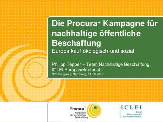 Philipp Tepper – Team Nachhaltige Beschaffung  ICLEI Europasekretariat