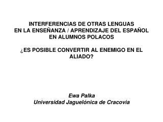 CONCEPTO DE  INTERFERENCIA