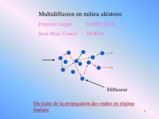 Multidiffusion en milieu aléatoire Francine LuppéLOMC-GOA Jean-Marc Conoir IJLRDA