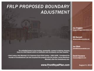 FRLP Proposed BOUNDARY ADJUSTMENT