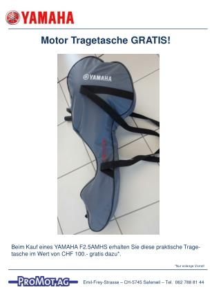 Motor Tragetasche GRATIS!