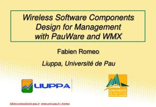 Wireless Software Components Design for Management with PauWare and WMX